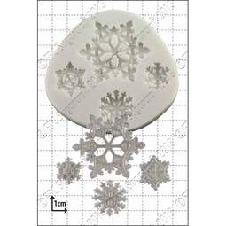 View the Snowflakes silicone icing mould online at Cake Stuff