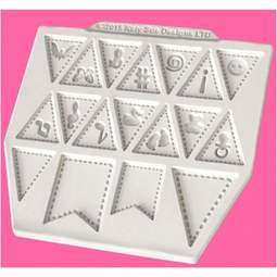 View the Bunting Extras design mat silicone mould online at Cake Stuff