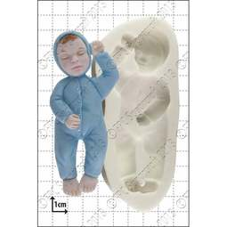 View the Sleeping Baby silicone icing mould online at Cake Stuff