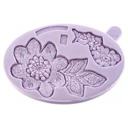 View the Lace Rose Cut Out Pieces 2 silicone icing sugarcraft mould online at Cake Stuff