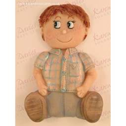 "View the 5"" Boy silicone icing sugarcraft mould online at Cake Stuff"