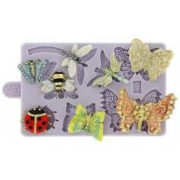 View the Butterfly & Insect Brooch silicone icing mould set online at Cake Stuff