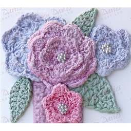 View the Crochet Flower & Leaf silicone icing mould online at Cake Stuff