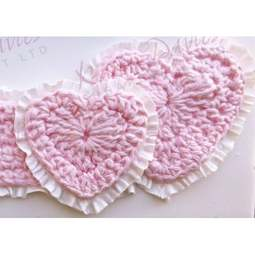 View the Crochet Hearts silicone icing mould online at Cake Stuff