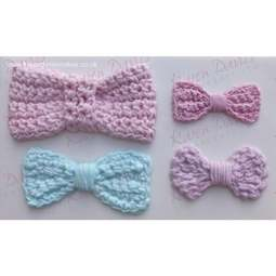 View the Crochet Bows silicone icing mould online at Cake Stuff
