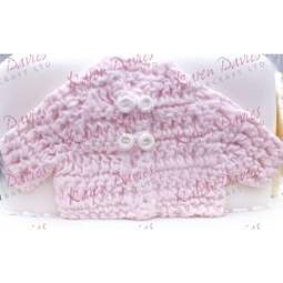 View the Crochet Baby Jacket silicone icing mould online at Cake Stuff