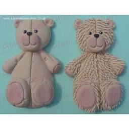 View the Large 10.5cm Teddy bear silicone icing sugarcraft mould online at Cake Stuff