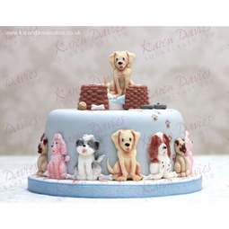View the 5 DOGS by Alice silicone icing sugarcraft mould set online at Cake Stuff