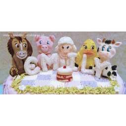 View the 5 FARM ANIMALS by Alice silicone icing sugarcraft mould set online at Cake Stuff