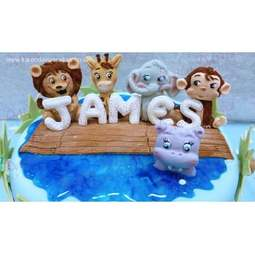 View the 5 JUNGLE ANIMALS by Alice silicone icing sugarcraft mould set online at Cake Stuff
