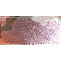 View the Kristen Lace Border silicone icing sugarcraft mould online at Cake Stuff