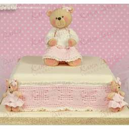 View the Teddy Bear Lace Border silicone icing sugarcraft mould online at Cake Stuff