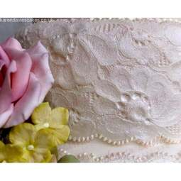 View the Amy Vintage Lace Border silicone icing sugarcraft mould online at Cake Stuff