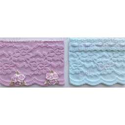 View the Rose Vintage Lace Border silicone icing sugarcraft mould online at Cake Stuff