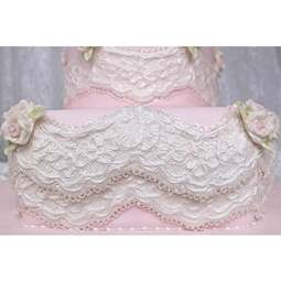 View the Alice Vintage Lace Border silicone icing sugarcraft mould online at Cake Stuff