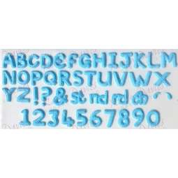 View the Alphabet & Numbers silicone icing sugarcraft mould set online at Cake Stuff