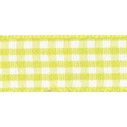 View the LEMON 15mm x 20m Gingham check ribbon online at Cake Stuff