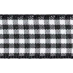View the BLACK 15mm x 20m Gingham check ribbon online at Cake Stuff