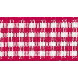 View the RED 15mm x 20m Gingham check ribbon online at Cake Stuff