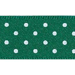 View the HUNTER GREEN 15mm x 20m Micro Dots ribbon online at Cake Stuff