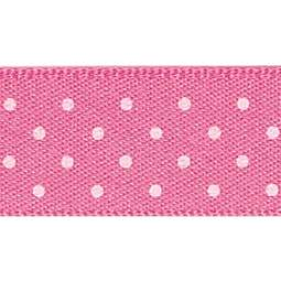 View the HOT PINK 15mm x 20m Micro Dots ribbon online at Cake Stuff