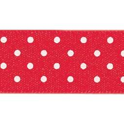 View the RED 15mm x 20m Micro Dots ribbon online at Cake Stuff