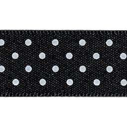 View the BLACK 15mm x 20m Micro Dots ribbon online at Cake Stuff