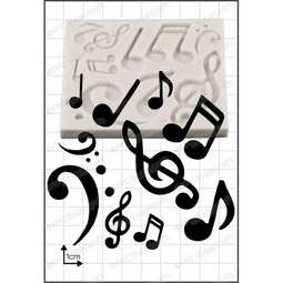 View the Musical Notes silicone icing mould online at Cake Stuff