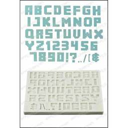View the PIXEL SCRIPT Alphabet silicone icing mould set online at Cake Stuff