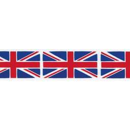View the UNION JACK FLAG 25mm x 20m printed cake ribbon online at Cake Stuff