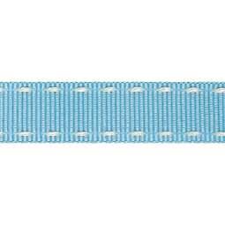 View the SKY BLUE / IVORY 15mm x 4m stitched edge grosgrain ribbon online at Cake Stuff