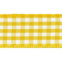 View the GOLD 15mm x 20m Gingham check ribbon online at Cake Stuff