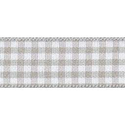 View the STEEL 15mm x 20m Gingham check ribbon online at Cake Stuff