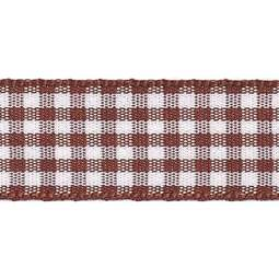View the BROWN 15mm x 20m Gingham check ribbon online at Cake Stuff