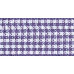 View the LIBERTY Purple 15mm x 20m Gingham check ribbon online at Cake Stuff