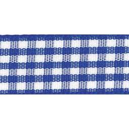 View the ROYAL Blue 15mm x 20m Gingham check ribbon online at Cake Stuff