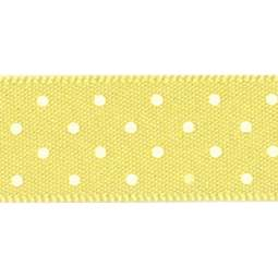 View the LEMON 15mm x 20m Micro Dots ribbon online at Cake Stuff