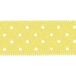 View the LEMON 15mm x 20m Micro Dots ribbon online at Cake Stuff