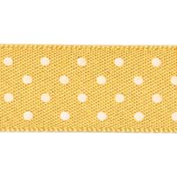 View the GOLD 15mm x 20m Micro Dots ribbon online at Cake Stuff