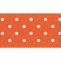 View the ORANGE DELIGHT 15mm x 20m Micro Dots ribbon online at Cake Stuff