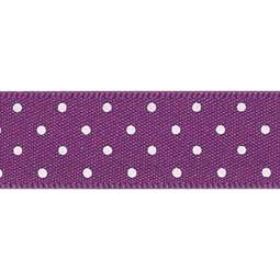 View the PLUM Purple 15mm x 20m Micro Dots ribbon online at Cake Stuff