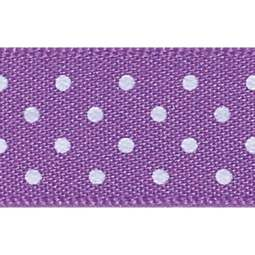 View the PURPLE 15mm x 20m Micro Dots ribbon online at Cake Stuff