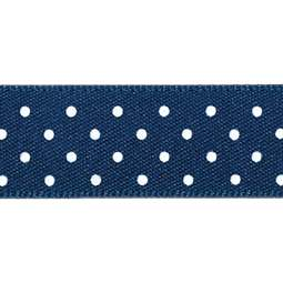 View the NAVY BLUE 15mm x 20m Micro Dots ribbon online at Cake Stuff