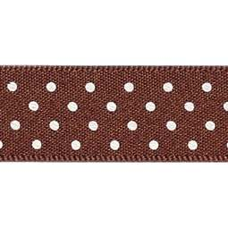 View the BROWN 15mm x 20m Micro Dots ribbon online at Cake Stuff