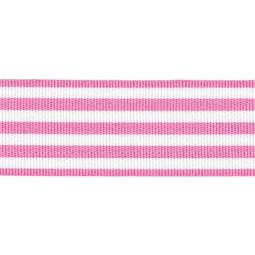 View the PINK STRIPES 16mm x 25m satin cake ribbon online at Cake Stuff