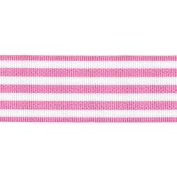View the PINK STRIPES 16mm x 25m satin cake ribbon online at Cake Stuff
