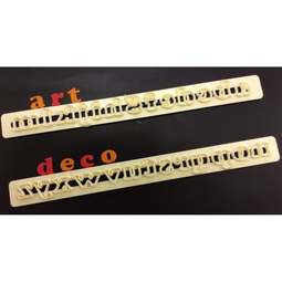 View the ART DECO Alphabet lower case Tappit icing cutter set online at Cake Stuff