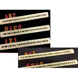 View the ART DECO Alphabet & Number (upper & lower case) Tappit icing cutter Bundle online at Cake Stuff