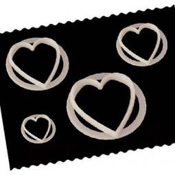 View the set of 4 Heart fondant icing cutters online at Cake Stuff