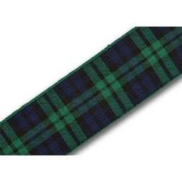 View the Black Watch 25mm Scottish tartan plaid ribbon x 25m reel online at Cake Stuff